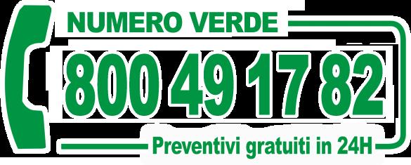 Chiama il numero verde 800.491782